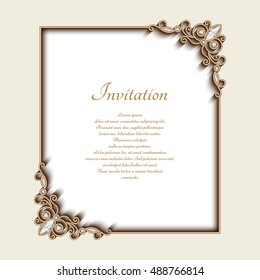Royalty Free Invitation Card Design Background Stock Images