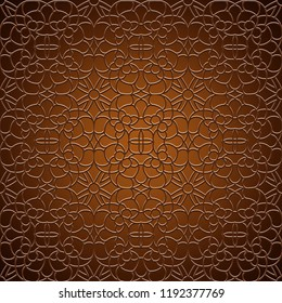 Vintage gold ornamental background with swirly decorative pattern, vector illustration