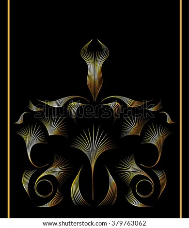 Vintage Golden Damask Wallpaper Gold Art Stock Vector Royalty Free