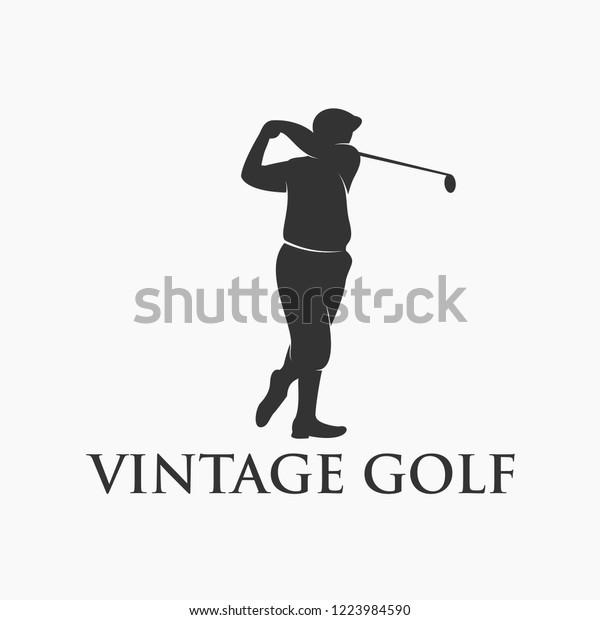 Vintage Golf Logo Design Stock Vector Royalty Free 1223984590