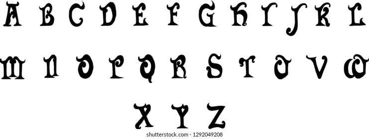 Devil Font Images, Stock Photos & Vectors | Shutterstock