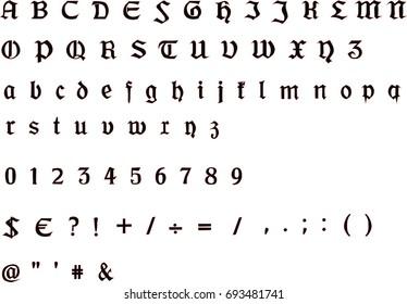 Medieval Alphabet Images, Stock Photos & Vectors | Shutterstock
