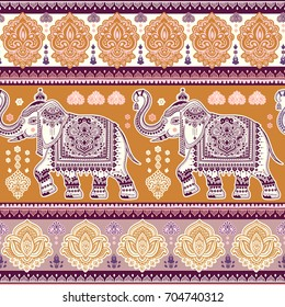 Vintage graphic vector Indian lotus ethnic elephant. African tribal ornament. Can be used for coloring books, textile, prints, phone case, greeting card, business card