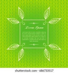 Vintage green card