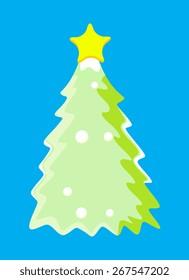 Vintage Green Christmas Tree