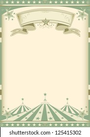 vintage green circus. A vintage green poster for your entertainment.