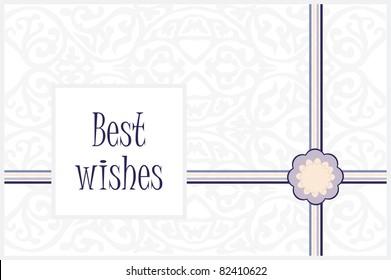 Vintage greeting card best wishes