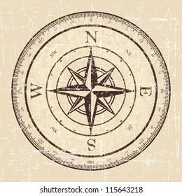 Vintage Grunge Compass