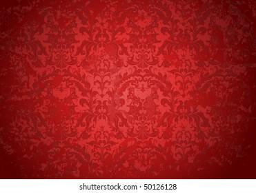 Vintage Grunge red pattern, vector
