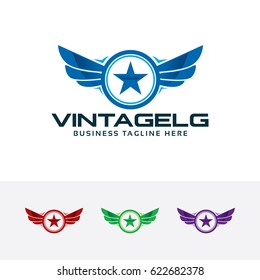 Vintage Guard, vector logo template