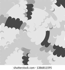 Vintage halftone monochrome geometric texture background. Vector Abstract Texture