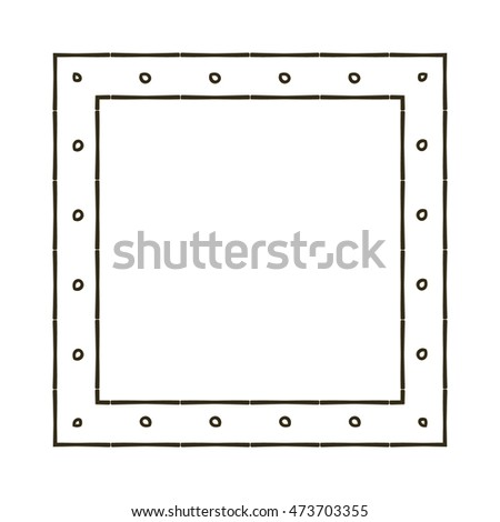 Vintage Hand Draw Frame Stock Vector Royalty Free 473703355
