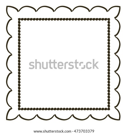 Vintage Hand Draw Frame Stock Vector Royalty Free 473703379