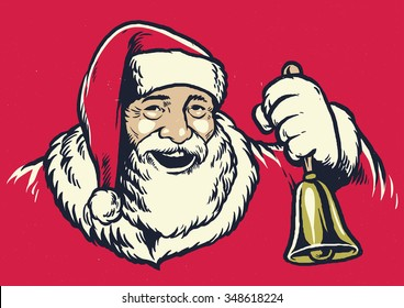 Vintage hand drawing style of santa claus