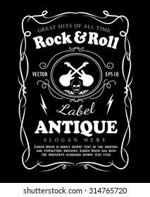 Vintage hand drawn frame label blackboard retro banner vector illustration