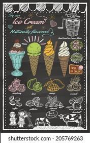 Vintage Hand Drawn Ice Cream