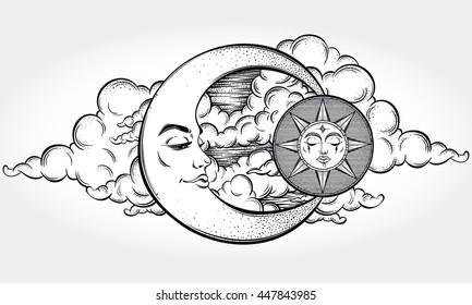 Planets Tattoo Stock Vectors Images Vector Art