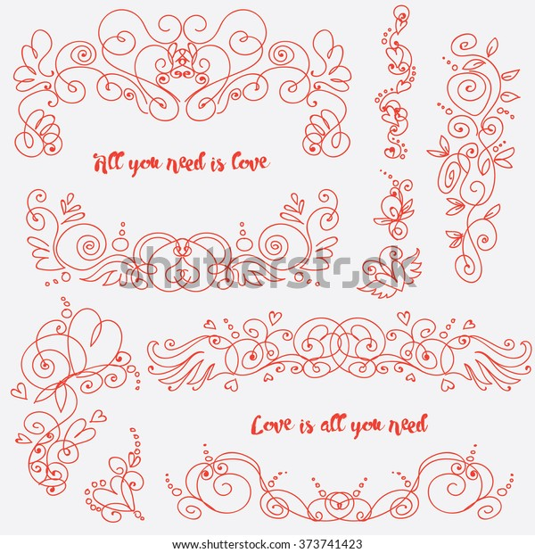 Vintage Hand Drawn Swirls Decoration Your Stock Vector Royalty