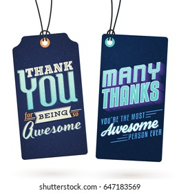 Vintage Hang Tags with Thank You Notes to help you express your gratitude in style