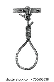 Vintage hangman hand drawing,Symbol of death