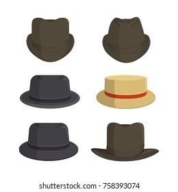 Vintage hat vector collection