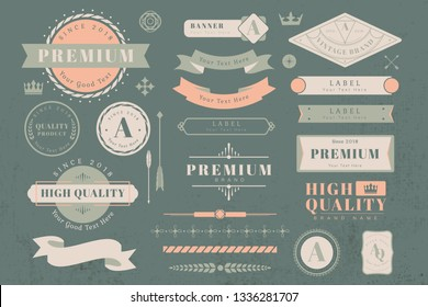 Vintage high quality design element vectors