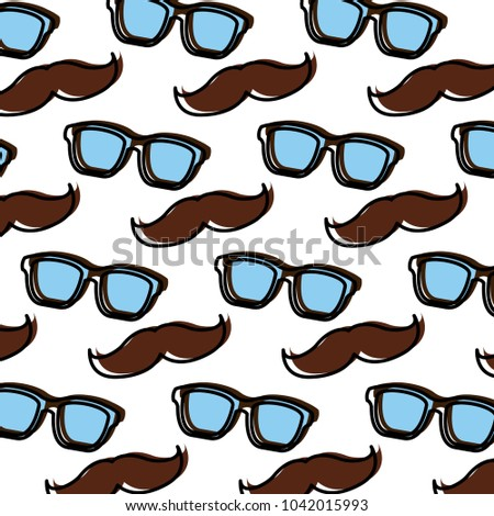 82a0d96f04 Vintage Hipster Glasses Mustache Background Design Stock Vector ...