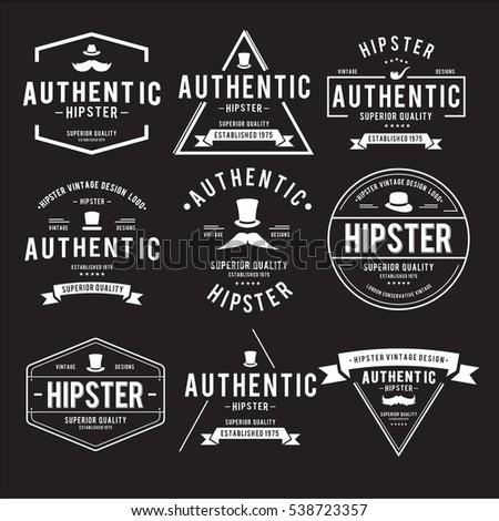 vintage hipster label vector design decoration stock vector royalty