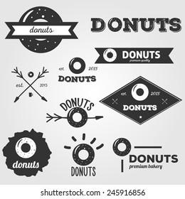 Vintage hipster vector logos set