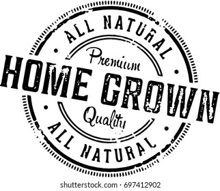 Vintage Home Grown Produce Stamp
