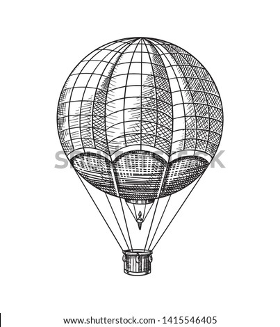 Vintage Hot Air Balloon Vector Retro Stock Vector (Royalty ...