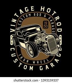 Vintage hot rod iron wheel