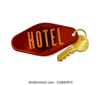 vintage hotel/motel room key