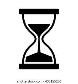 Vintage hourglass / sandglass timer or clock flat vector icon for apps and websites