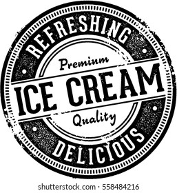 Vintage Ice Cream Dessert Stamp