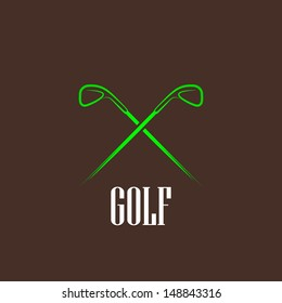 vintage illustration with a golf drivers