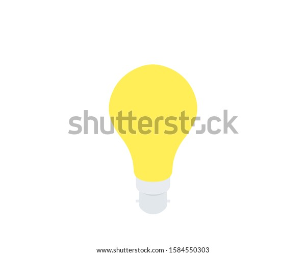 Vintage Incandescent Light Bulb Drawing Simple Stock Vector Royalty Free 1584550303