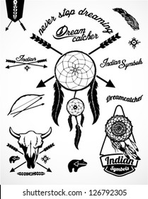 Vintage Indian Collection with Dream catcher and arrows