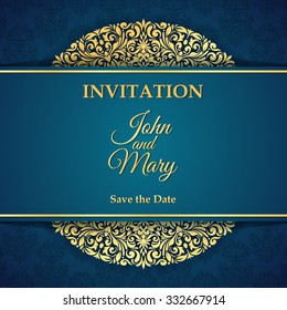 Vintage invitation card.
