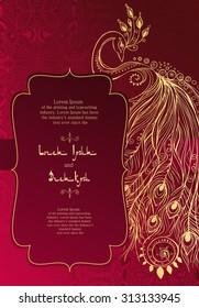 Wedding Card Design Hindi Stock Illustrations Images
