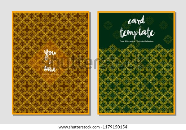 Vintage Invitation Template Modern Design Wedding Stock Vector ...