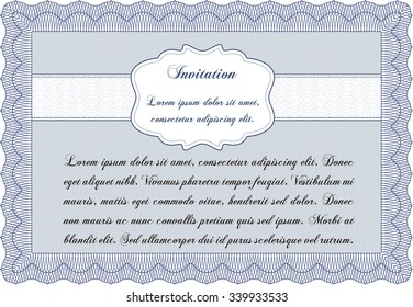 Vintage invitation template. With quality background. Detailed.Elegant design.