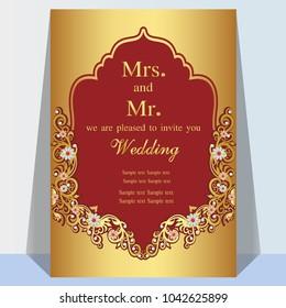 Hindu Wedding Invitation Card Images, Stock Photos ...