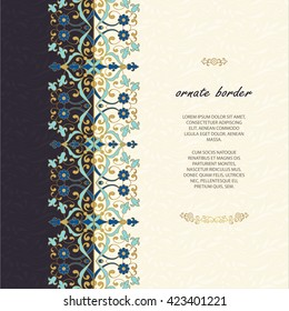 Islamic border images stock photos vectors shutterstock vintage islamic style brochurector decorative frame elegant element for design template place thecheapjerseys Image collections