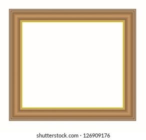 Vintage isolated blank frame