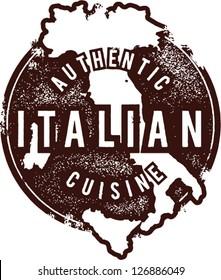 Vintage Italian Restaurant Menu Graphic