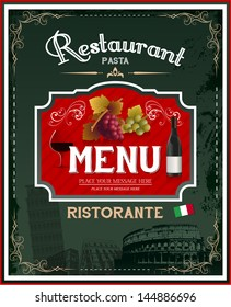 Vintage italian restaurant menu and poster design