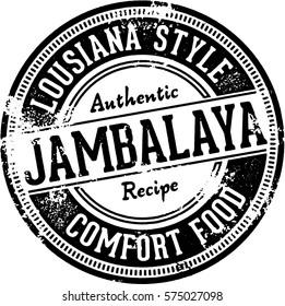 Vintage Jambalaya Restaurant Menu Stamp