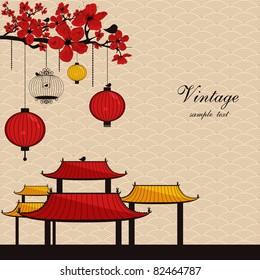 vintage japanese style background
