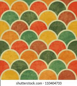 Vintage Japan-style Wave Seamless Pattern